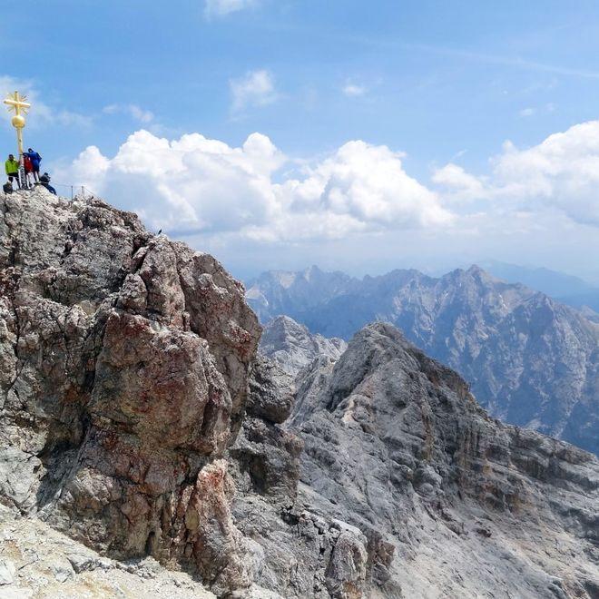 Auf dem höchsten Gipfel Deutschlands