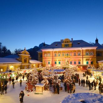 Adventmarkt Salzburg und Schloss Hellbrunn