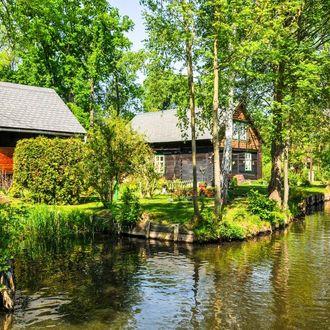 Die Flusslandschaft des märchenhaften Spreewalds